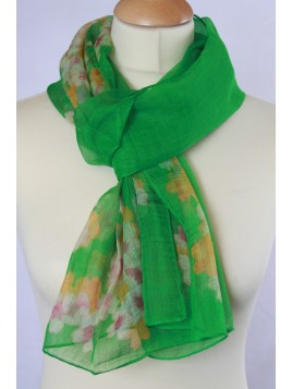 Foulard Imprimé Fleuri Vert