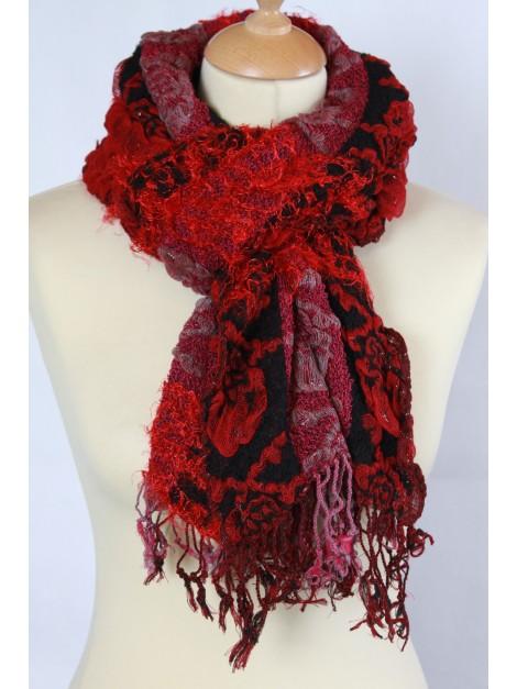 echarpe t te de mort rouge foulard du monde. Black Bedroom Furniture Sets. Home Design Ideas
