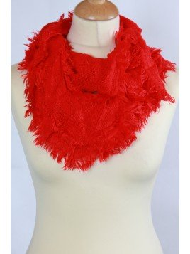 Echarpe Snood Frou-Frou Rouge