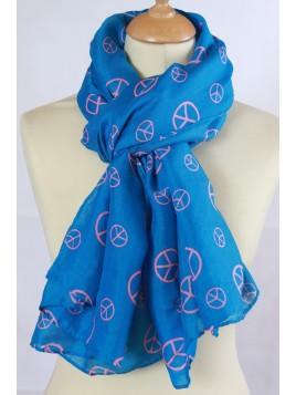 Chèche Peace and Love Bleu