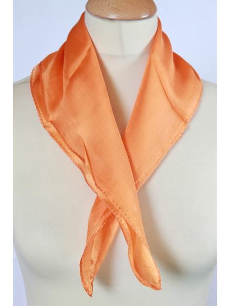Carré 100 % Soie Orange