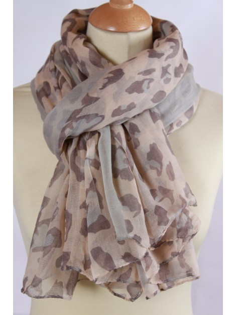 Foulard Fantaisie Marron
