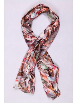 Foulard Soie Berry Rouge