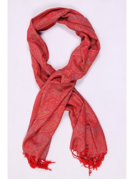 Foulard triangle pois rouge