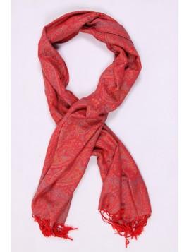 Foulard triangle pois rouge