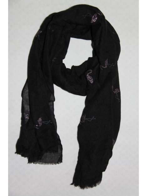 Chèche Uni Noir Flamant